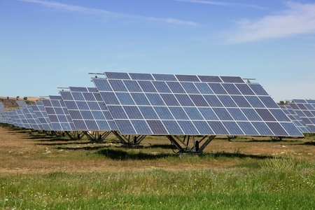 Large scale solar farm in Spain. Solar energy is becoming an important part of the energy mix.
