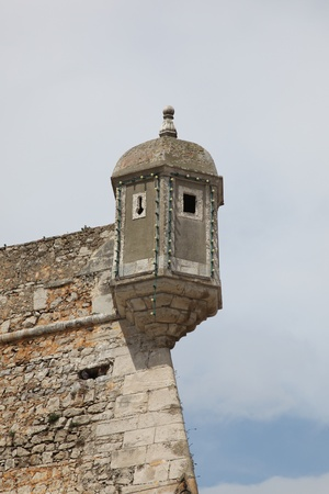 Lagos: One of the turrets of the Forte da Bandeira,Lagos, Portugal Stock Photo