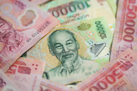 independance: Vietnamese money featuring Ho Chi Minh the leader of the Vietnamese Independance movement and President of Vietnam