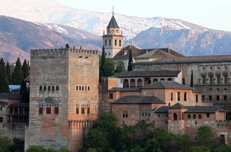 granada: View of the famous Alhambra, Granada, Spain.