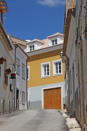 Lagos: A traditional street scene in Lagos Portugal. This coastal town is a popular tourist destination