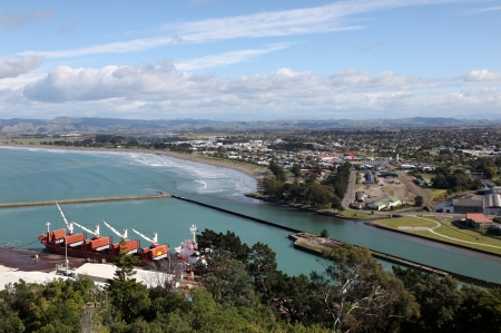 A view of Gisborne and its port  This city on the East coast of New Zealands north island is an important regional centre  photo