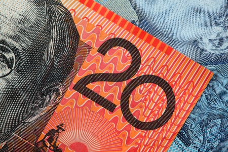 Detail from an Australian twenty dollar note  photo