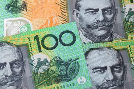 australian dollar notes: Australian 100 dollar notes  Stock Photo