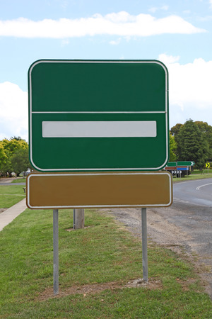 A blank sign on the side of the road  Add your own text or design photo