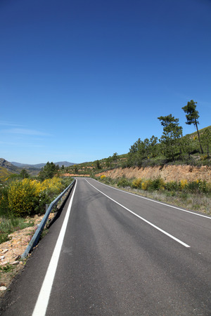 open road: A view of the open road in rural Spain near Guadalupe.
