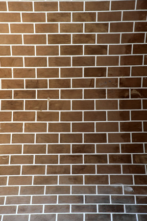 vertical image: Vertical image of a brick wall for background use Stock Photo