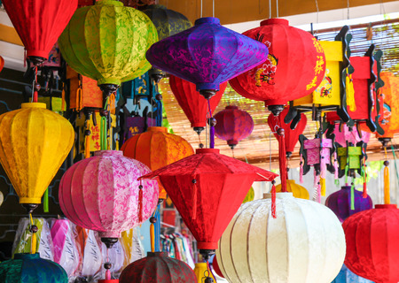 laterns: Various colourful lanterns in Hoi An - Vietnam. This town is a popular tourist destination and laterns are an iconic part of the town.