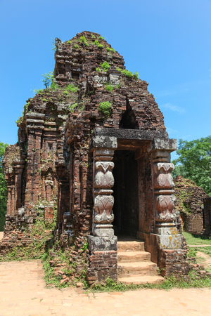 fro: My Son is a Champa Hindu complex in Vietnam. It can visited fro Hoi An. The site dates from the 4th to 14th century Stock Photo