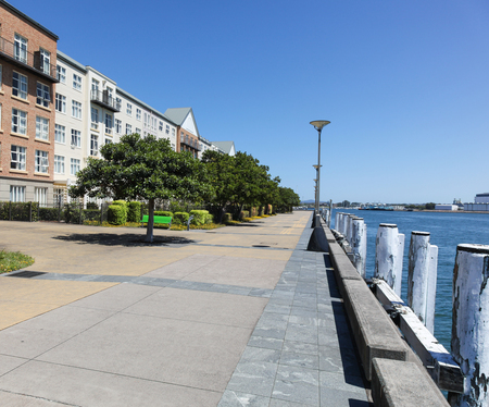 regeneration: The Honey Suckle area on Newcastle Harbour is an example of urban regeneration where a industrial wharf area has been transformed.