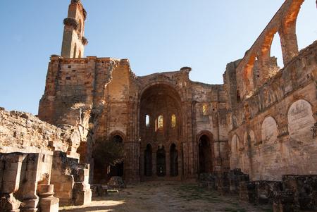 Medieval monastery Granja de Moreruela, Zamora Spain Stock Photo