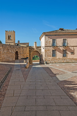 Zamora, House of the CID building. Historic medieval Stock Photo