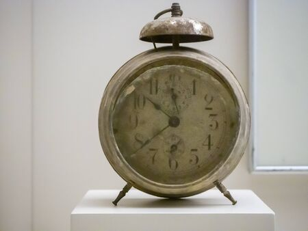 very old alarm clock. Concept of time