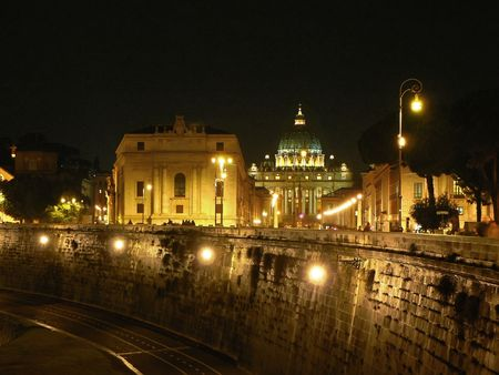 Saint Peter�s Cathedral in the night  photo