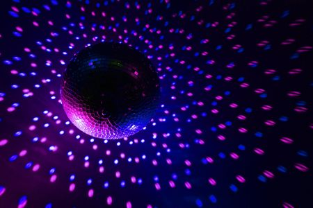 Disco ball blue - purple photo