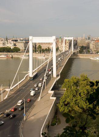elisabeth: Elisabeth Bridge in Budapest, Hungary, Europe Stock Photo