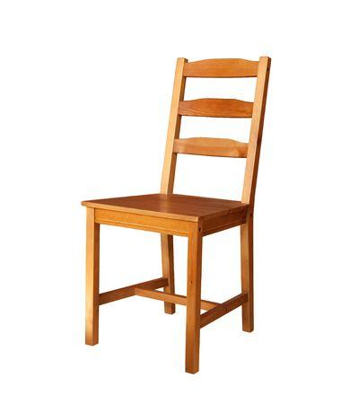 silla de madera: silla de madera aislada  Foto de archivo