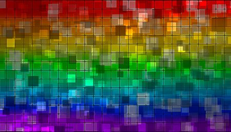 mixed wallpaper: rainbow mosaic from various shiny little squares