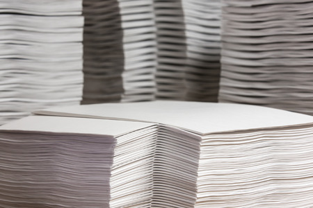 collate: Stack of papers Stock Photo