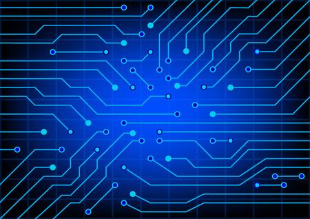 circuitos electricos: La imagen abstracta de los circuitos eléctricos utilizados en diversos dispositivos
