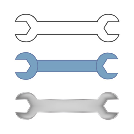 selections: Wrench set . Minimalistic design selections keys for repair .