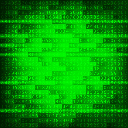 Green binary computer code repeating Illustration