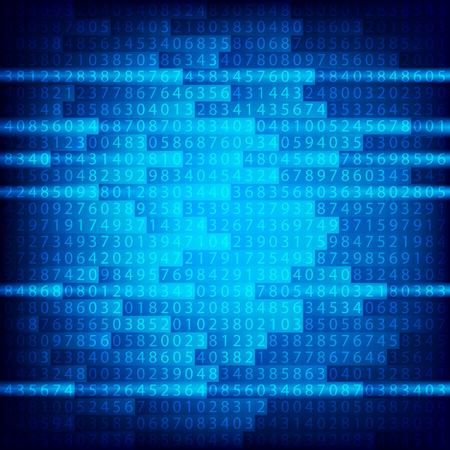 Blue binary computer code repeating Illustration