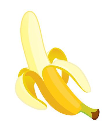 one cleaned banana