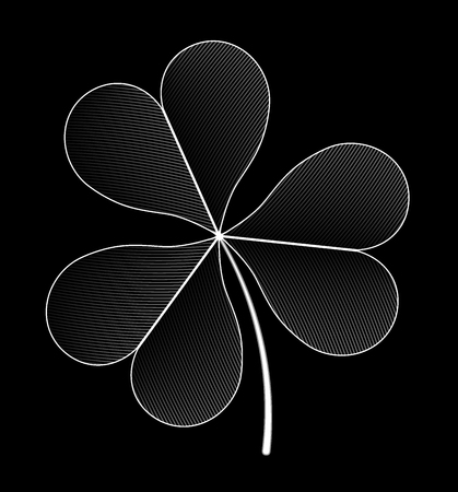 trifolium: Design image is three-sheeted clover. Illustration