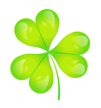 The images of abstract three-leaf clover.