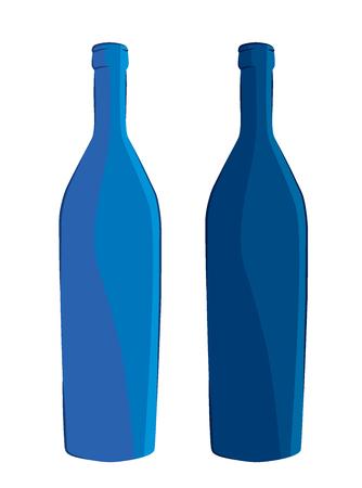 set of bottles Illustration