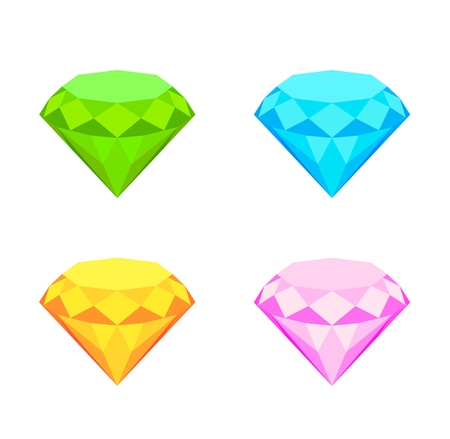 Collection of diamonds. Illustration