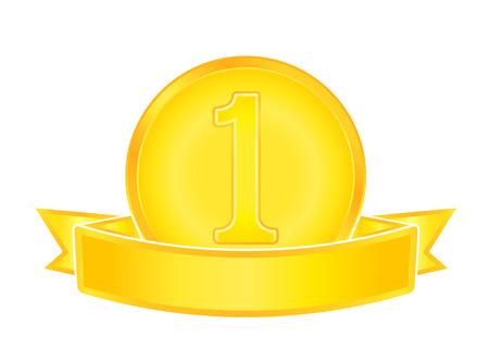 Gold medal number one Illustration