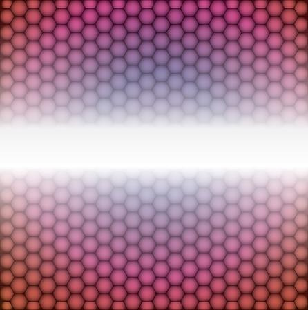 geometric pattern of hexagons. Illustration
