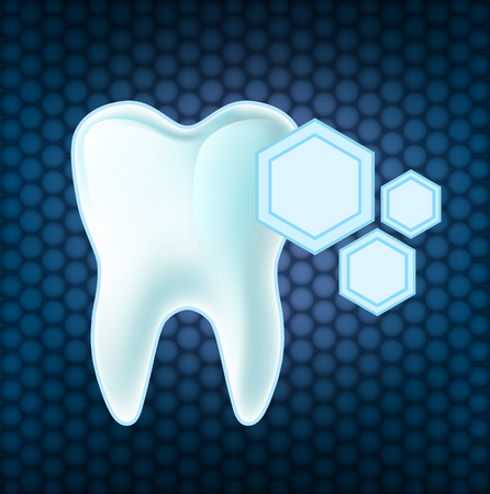 Concept teeth protection. Illustration
