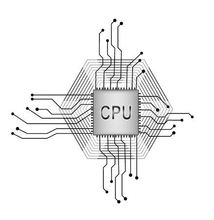 transistor: Procesador central.