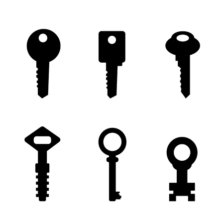 Door key set Illustration