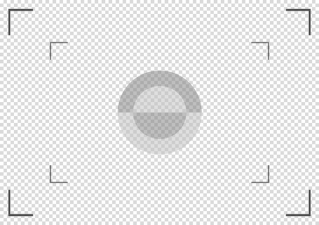 Camera viewfinder. Focusing screen of the camera. Vector template for your design . Eps 10 vector illustration