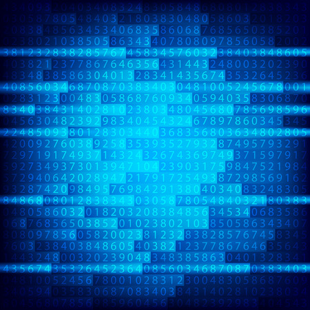 Blue binary computer code repeating  background . Eps 10  illustration