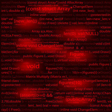 compiler: Software engineering technology background concept . Red abstract background .