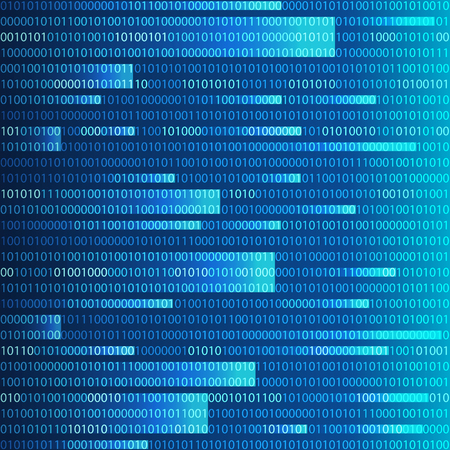 Blue binary computer code repeating  background Stock Photo