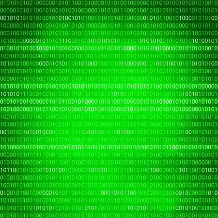 Green binary computer code repeating  background