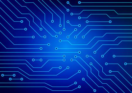 さまざまなデバイスで使用される電気回路の抽象的なイメージ。 イラスト。. 写真素材