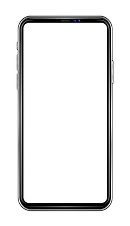 Smarphone on white backgound isolated. Vector lustrasion