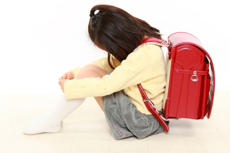 Japanese bullied child Stock Photo