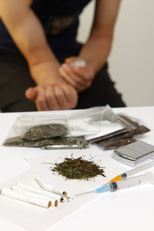 smuggling: Drug addiction Stock Photo