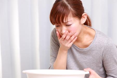 chory: wymioty kobieta Zdjęcie Seryjne