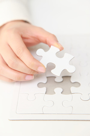 complete jigsaw puzzle Stock Photo