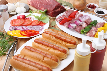 broach: Barbecue Stock Photo
