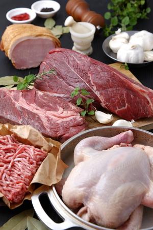 carnes: Varios Carnes Frescas Foto de archivo